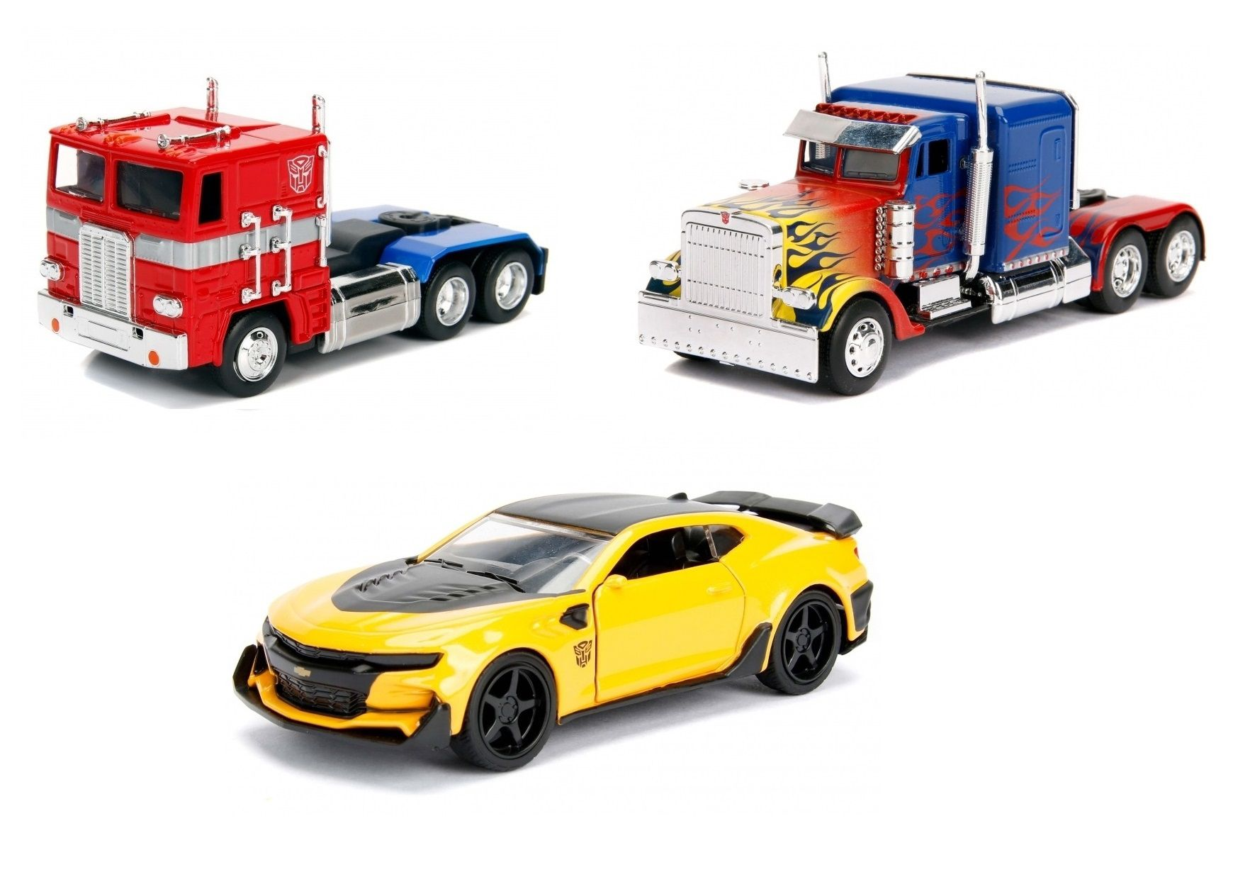 Pack Metals Die Cast Transformers Escala 1/32 (Set de 3) - DTC