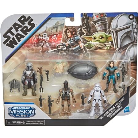 Pack Mini Figuras Colecionáveis Action Figures Mandaloriano Mandalorian Grogu Baby Yoda Star Wars Disney+ - Hasbro