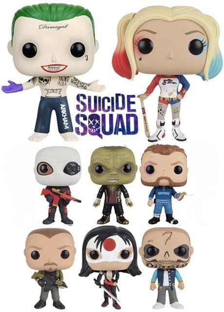 Funko Pack POP! Esquadrão Suicida: 8 personagens - Funko