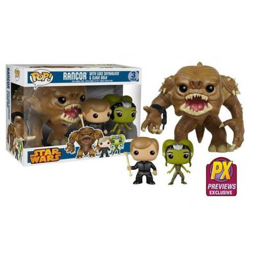 Pack Pop! Rancor with Luke Skywalker & Slave Oola: Star Wars #3 - Funko
