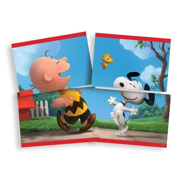 Painel 4 Laminas Snoopy - Festcolor