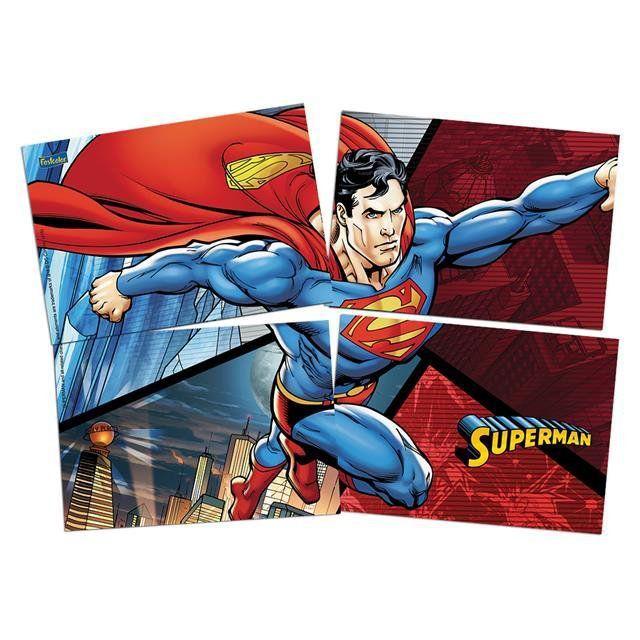 Painel 4 Laminas Superman - Festcolor