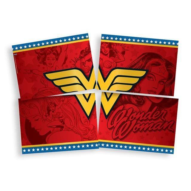 Painel 4 Laminas Wonder Woman - Festcolor