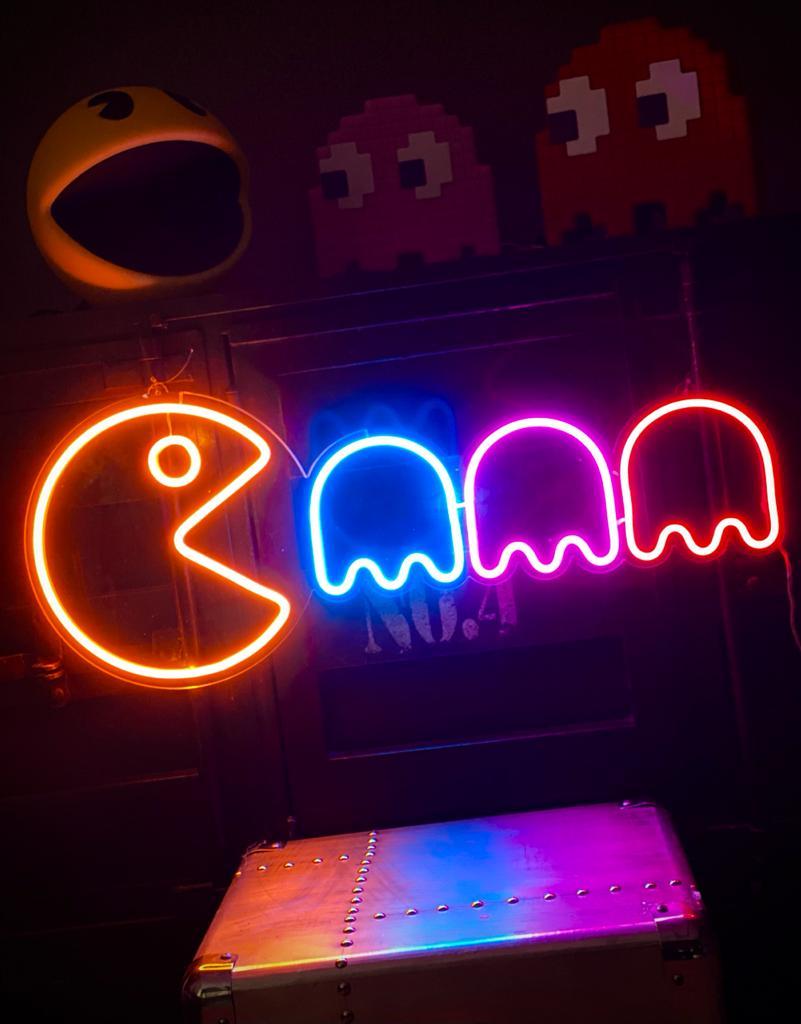 Painel Luminária Neon Pac-Man - EV