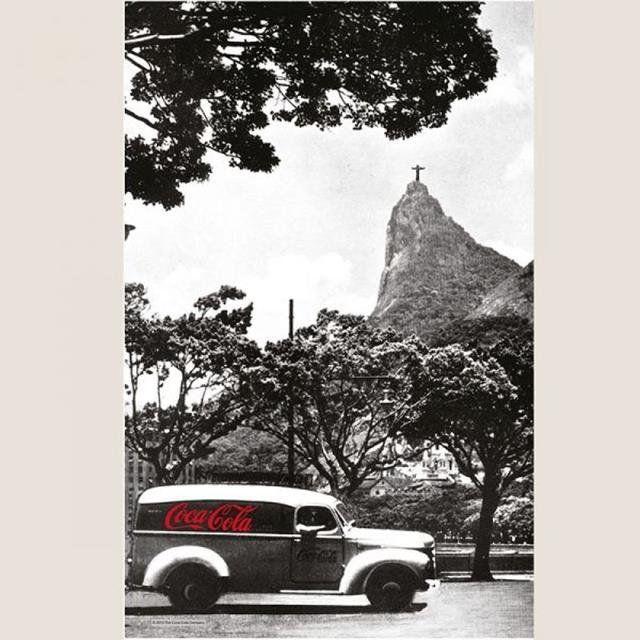 Pano de Prato Algodão Coca-Cola Landscape Rio de Janeiro