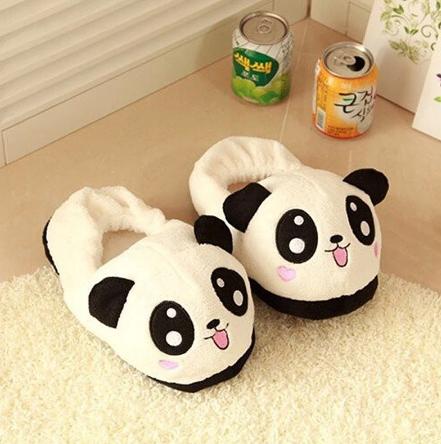 Pantufa 3D Animal  Bicho Pelúcia Panda Tamanho Único Ajustável - MKP