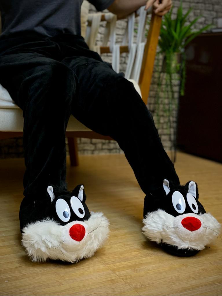 Pantufa 3D Frajola - Looney Tunes