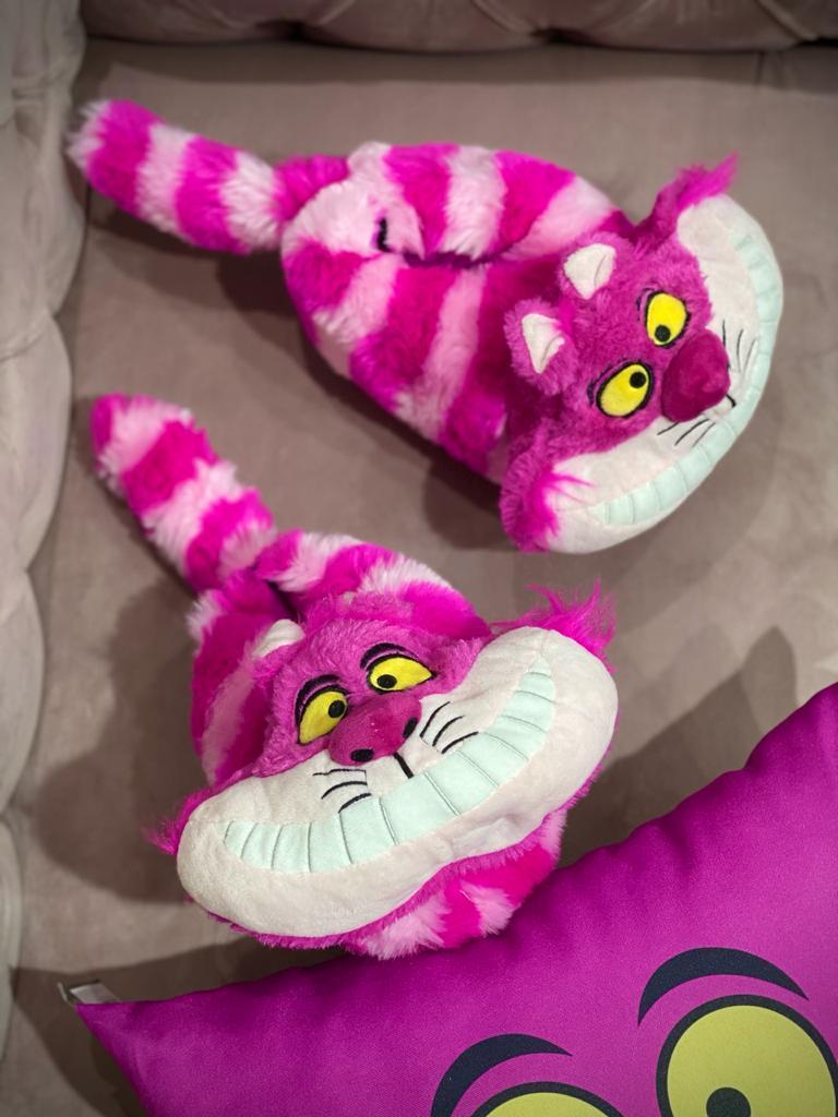 Pantufa 3D Gato Risonho (Gato de Cheshire): Alice no País das Maravilhas (Alice in Wonderland) Disney - Ricsen