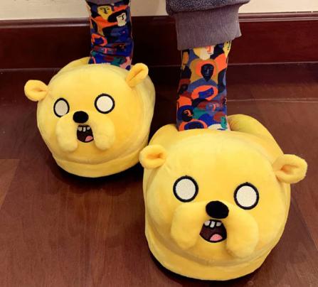 Pantufa 3D Jake O Cachorro: Hora Da Aventura Adventure Time Tamanho Único Ajustável