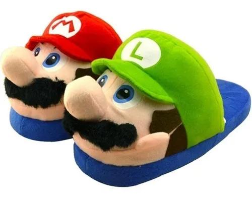 Pantufa 3D Mario e Luigi (Tamanho Único)