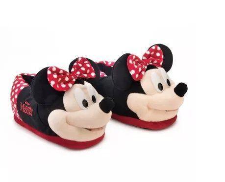 91d6afbd6d4548 Pantufa 3D Minnie Mouse: Disney - Ricsen - Toyshow