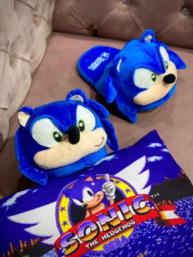 Pantufa 3D Sonic the Hedgehog (Tamanho Único)