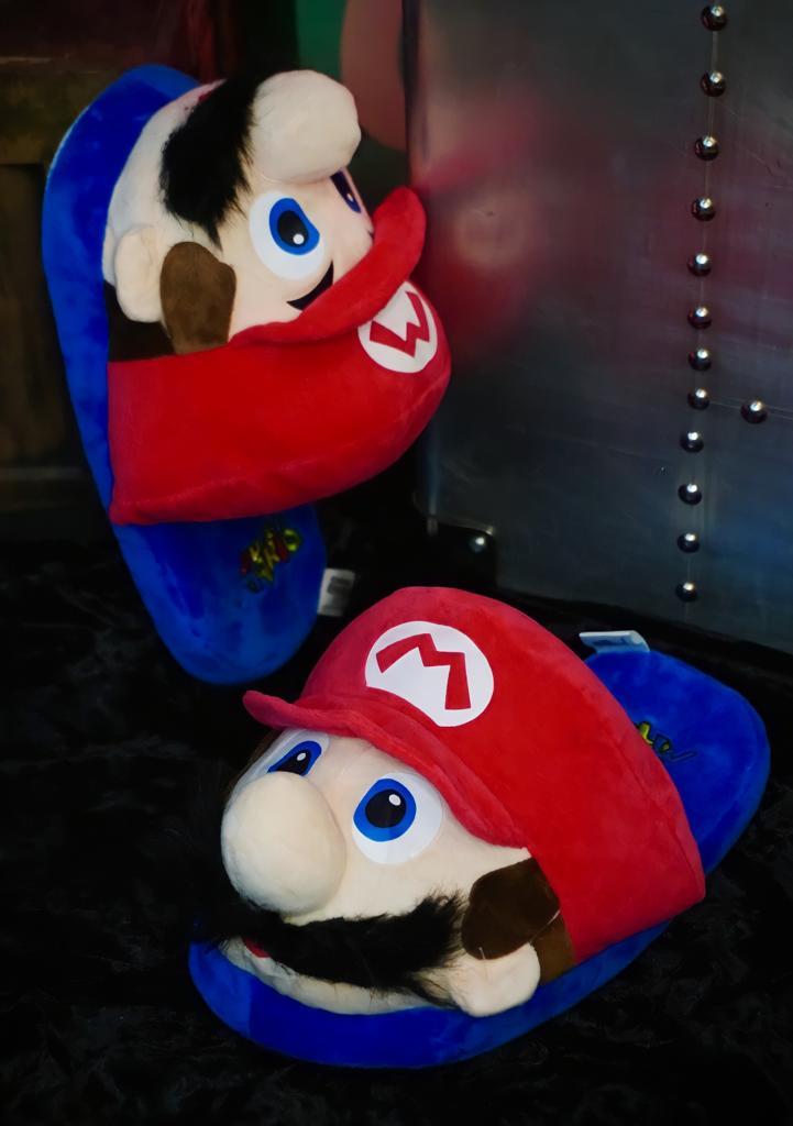 Pantufa Chinelo 3D Mario: Super Mario Bros (Tamanho Único)
