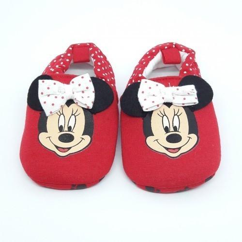 Pantufa Minnie: (Vermelha) - Disney