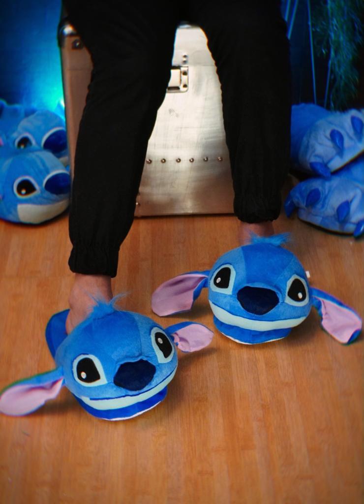 Par Chinelo Pantufa 3D Stitch: Lilo e Stitch - Disney Tamanho Único