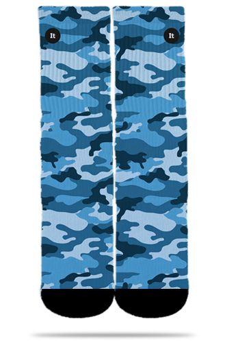 Par de Meia: Camuflada Azul - It Sox