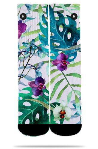 Par de Meia: Floral Aquarela - It Sox