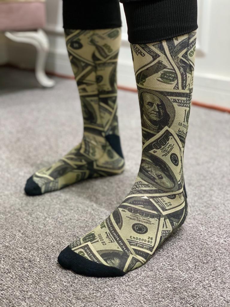 Par de Meia Geek: 100 Dólares - It Sox
