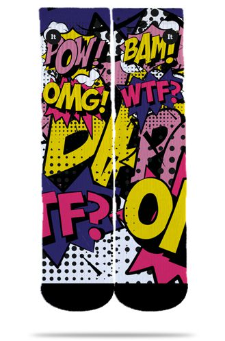 Par de Meia Geek: Comics PopArt - It Sox