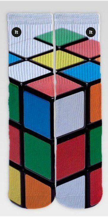 Par de Meia Geek: Cubo Mágico - It Sox