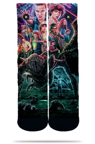 Par de Meia Geek Poster: Stranger Things - It Sox