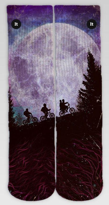 Par de Meia Geek: Stranger Things (Bike na Lua) - It Sox