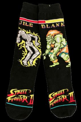 Par de Meia Guile Vs Blanka: Street Fighter II