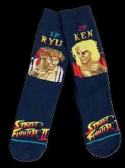 Par de Meia Ryu Vs Ken: Street Fighter II