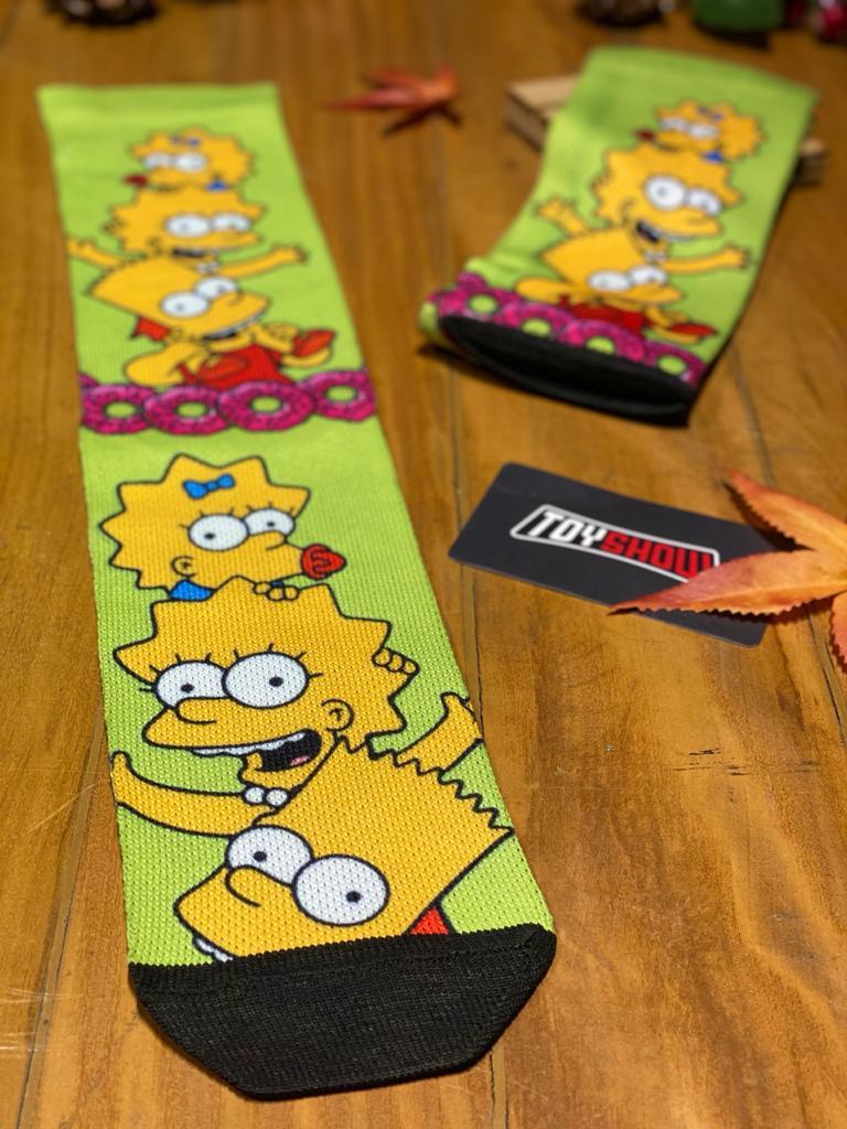 Par de Meias Geek Bart, Lisa E Maggie Simpson: Os Simpsons