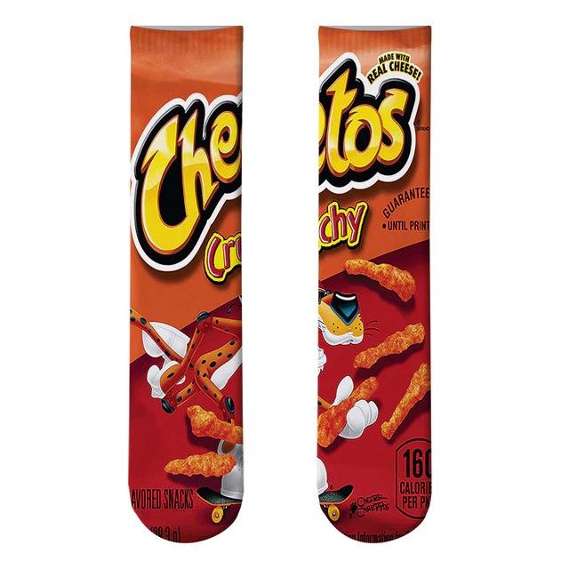 Par de Meias Geek Cheetos Sabor Crunchy - EV