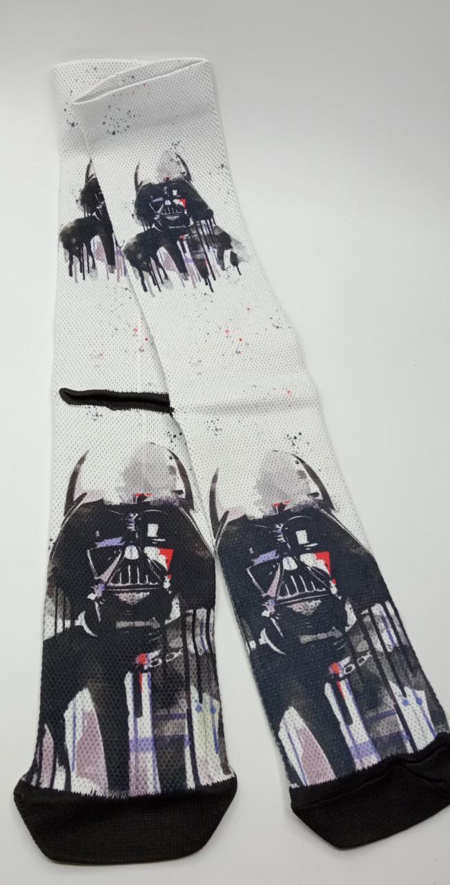 Par de Meias Geek Darth Vader Grafite: Star Wars