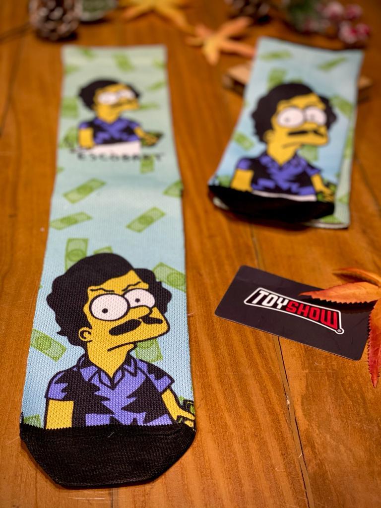 Par de Meias Geek Escobart: Os Simpsons (Colorida)