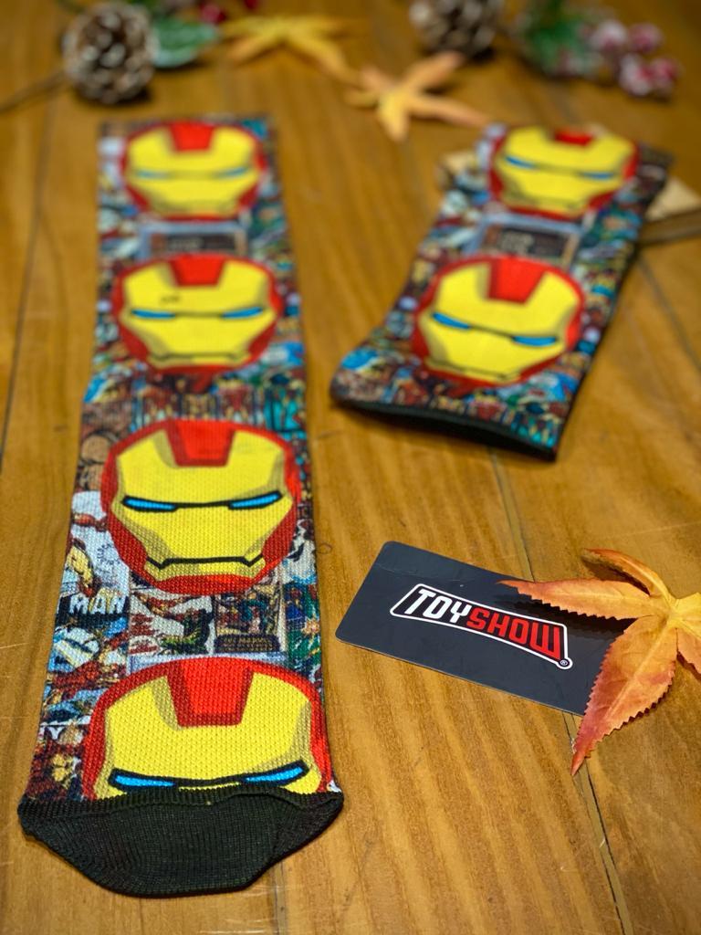 Par de Meias Geek Homem De Ferro (Iron Man) Quadrinhos: Marvel