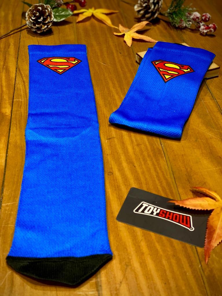 Par de Meias Geek Logo Super Homem (Superman): DC Comics