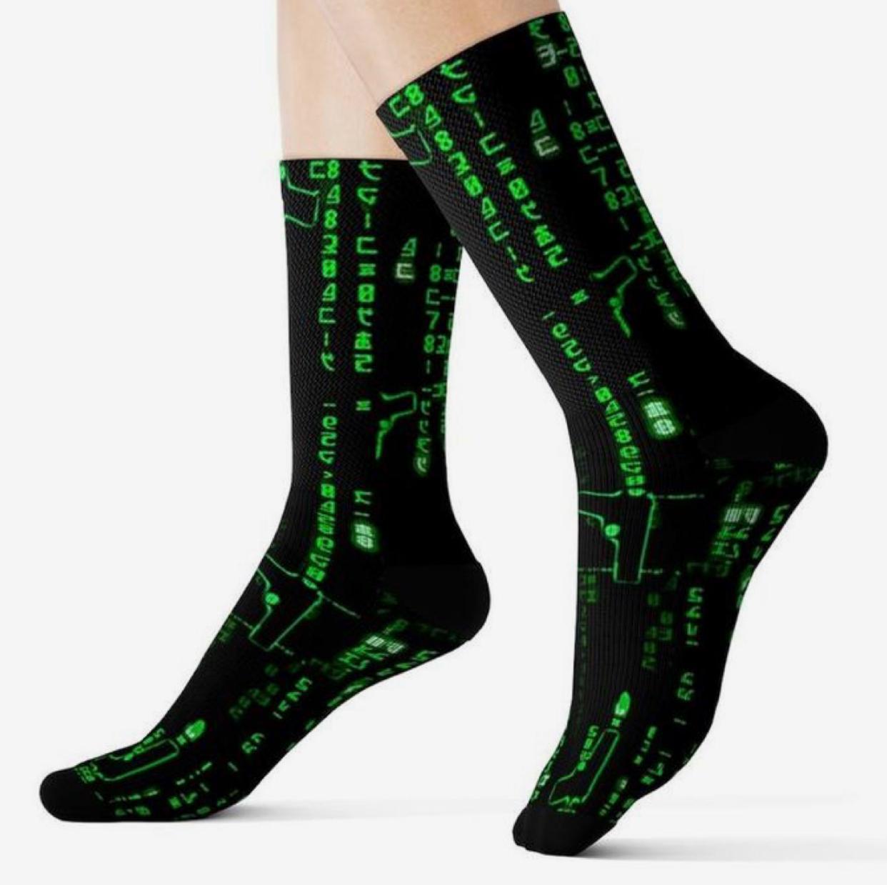 Par de Meias Geek: Matrix - It Sox