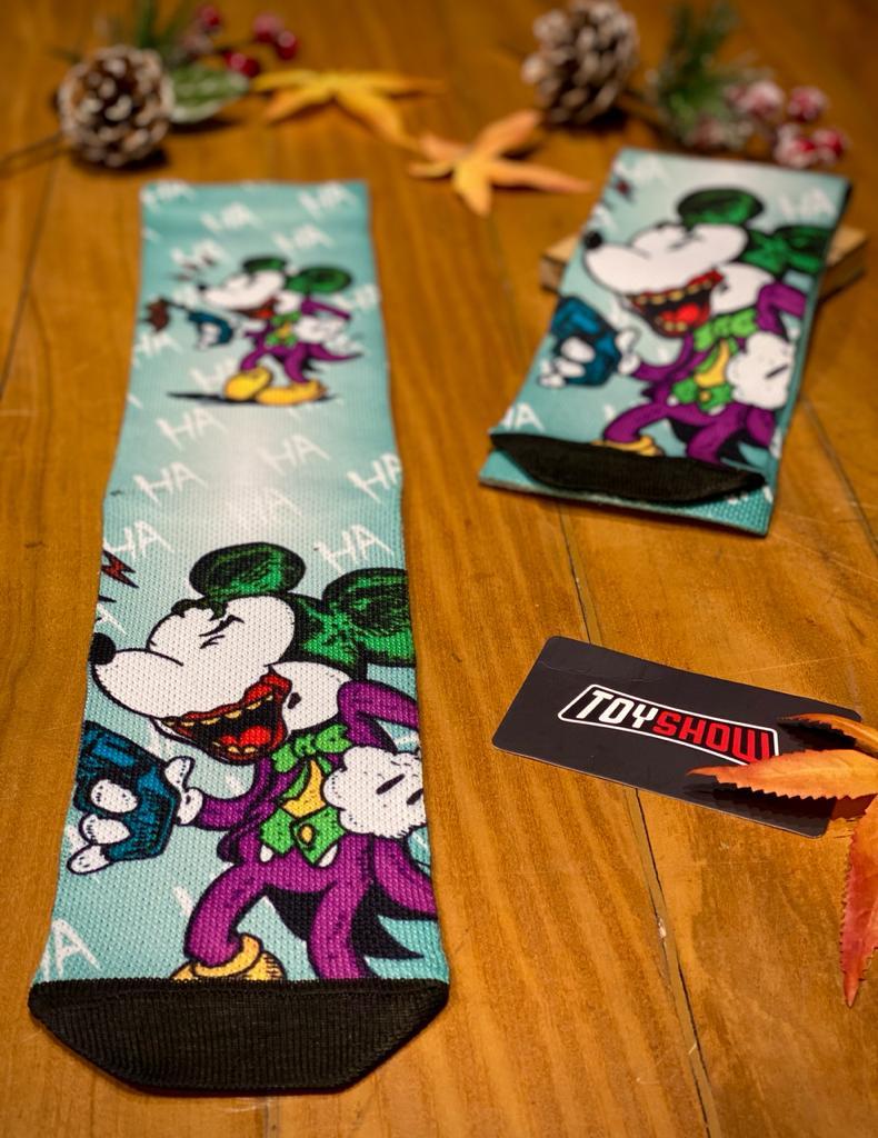 "Par de Meias Geek  Mickey ""HAHAHA"": Mickey Mouse"