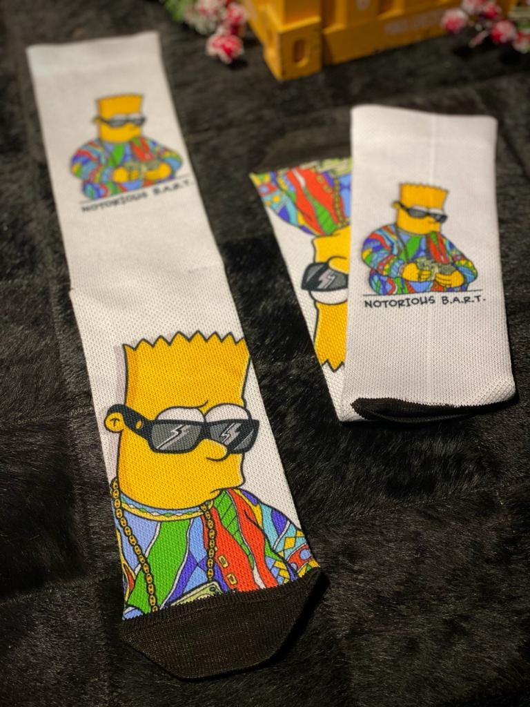 Par de Meias Geek Notorious B.A.R.T: Os Simpsons