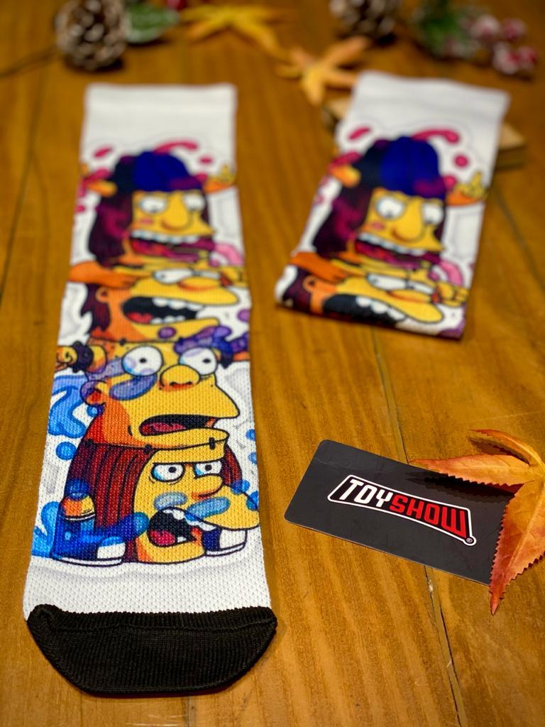 Par de Meias Geek Os Valentões De Springfield: Os Simpsons