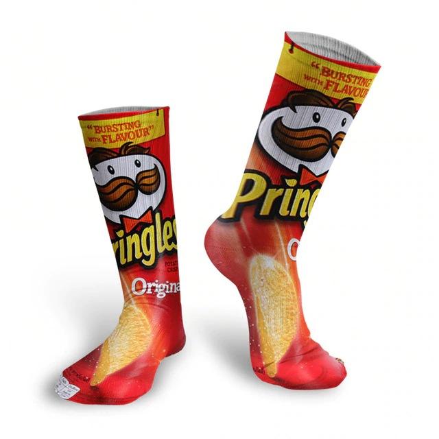 Par de Meias Geek Pringles Sabor Original - EVALI