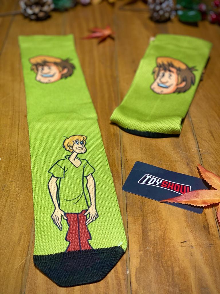 Par de Meias Geek Salsicha (Shaggy Rogers): Scooby Doo