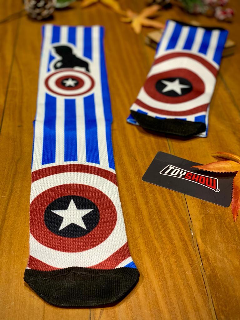 Par de Meias Geek  Sentinela Da Liberdade: Capitão América