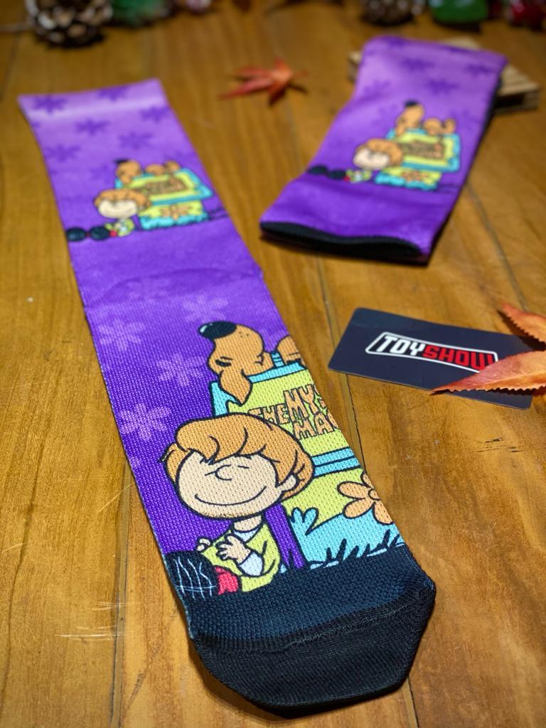 Par de Meias Geek Snoop Doo e Salsicha Brown: Scooby Doo