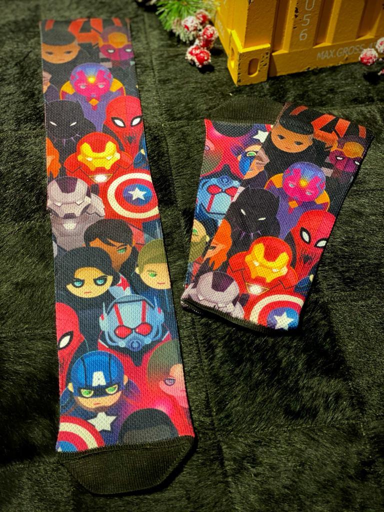 Par de Meias Geek Vingadores Cute (Avengers Cute): Marvel