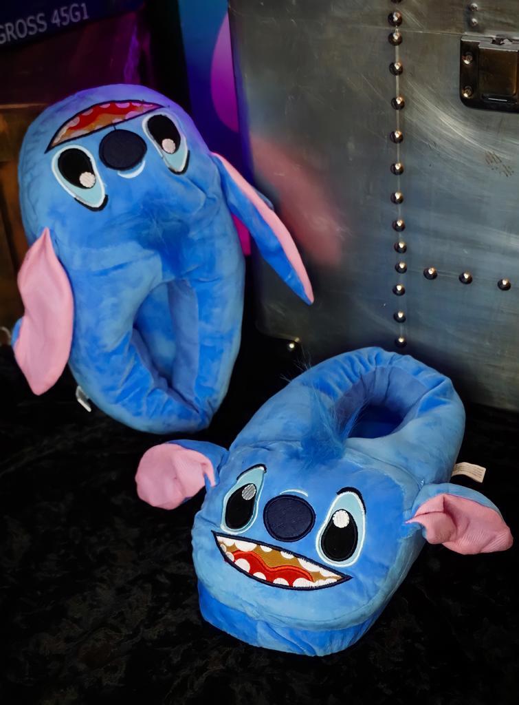 Par Pantufa 3D Stitch Sorridente: Lilo e Stitch - Disney Tamanho Único