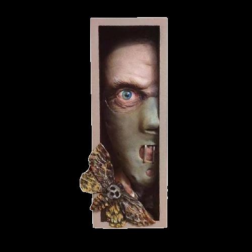 Peeping de Estante Decoração Hannibal Lecter - EVALI