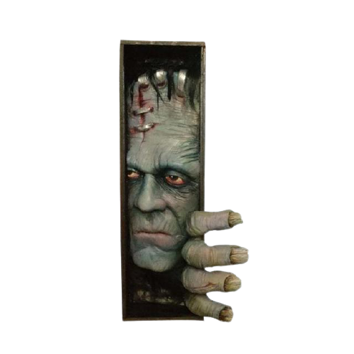 Peeping de Estante Decoração Monstro Frankenstein - EVALI