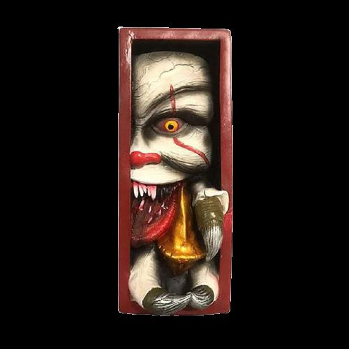 Peeping de Estante Decoração Monstro Pennywise  - EVALI