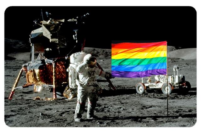 Película Adesiva Geek Cartão de Crédito e Débito Lua Astronauta LGBTQIA+