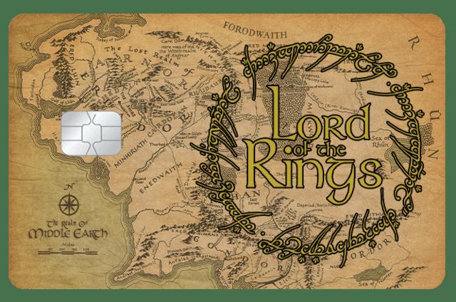 Película Adesiva Geek Cartão de Crédito e Débito Mapa Senhor dos Anéis Lord Of The Rings  - EV