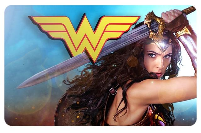 Película Adesiva Geek Cartão de Crédito e Débito Mulher Maravilha Wonder Woman DC Comics